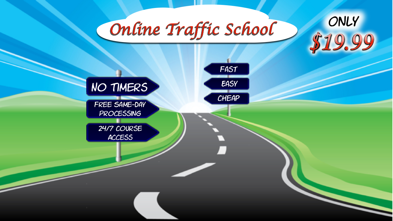 Cheap Discount Traffic School The Leading Online Traffic School Course Professionals Choose. You can complete any of our DMV/Court-licensed internet traffic school online courses in just three (3) easy steps and can get started right away.